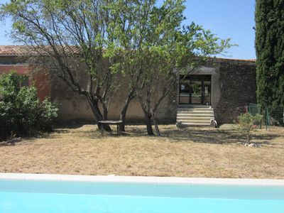 Photo for A barn in the heart of the Minervois with garden and swimming pool (Languedoc)