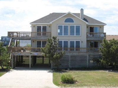 Photo for Severe Clear; Semi-oceanfront Whalehead, private pool and hot tub and pet friendly.