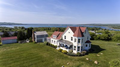 Photo for Elegant; endless water views.  2 private beaches.