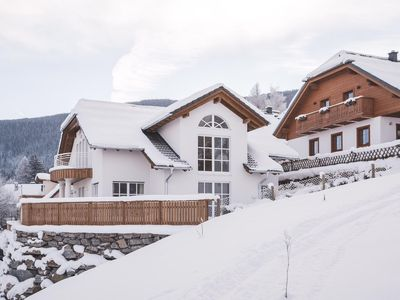 Photo for Wooden house with stunning views of the mountains, 300 m to ski, hiking, internet