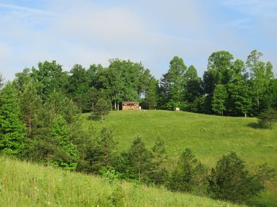It's only you, the woods, and the very large 7 acre field that Hilltop sits on.