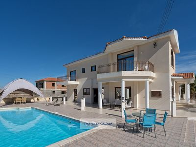 Photo for Pyla Villa, Sleeps 20 with Pool and Air Con