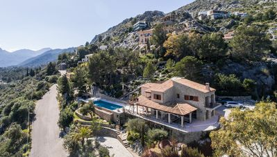 Photo for Contemporary villa in the la Font area of Pollença with stunning views