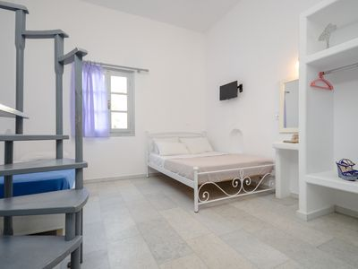 Photo for Naxos apartment for 5 ,50m from the beach