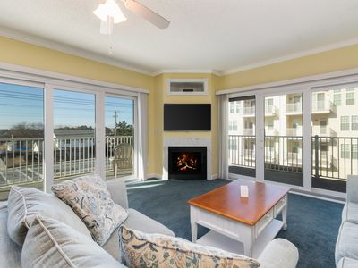 Photo for NEW LISTING! Beautiful ocean view condo with fireplace,and shared pool