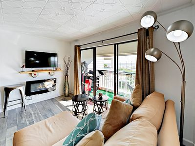Living Room - Welcome to Galveston! Your TurnKey rental combines the amenities of a boutique hotel with the comforts and privacy of your own home.