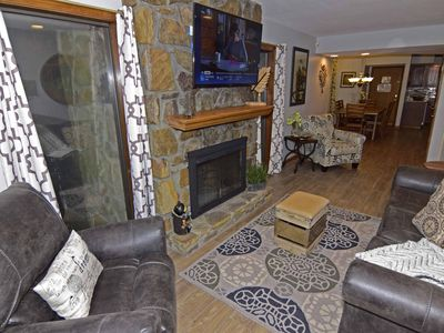Photo for 2 Bedroom Condo, Lovely Decor, Woodburning Fireplace, WIFI, Patio