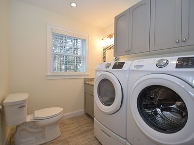 1st floor 12 bath washer dryer for your convenience
