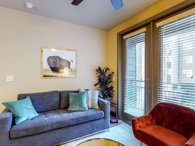 Photo for NEW LISTING! Modern condo w/shared pool, fitness room, & free WiFi
