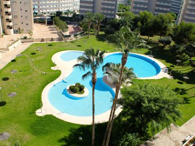 Photo for In luxury beach sunny and spacious 3 sl. comb / 2 bath. apartment with limited seaview