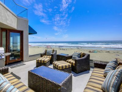Photo for Large condo w/2 balconies RIGHT on the beach! Low Rates!