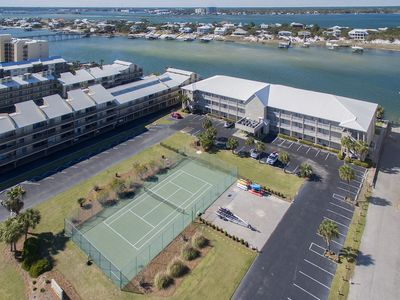 Dolphin Harbor - Front View, Gated Entry & Tennis Court