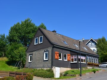 Large modern holiday house near Winterberg with a terrace and big garden