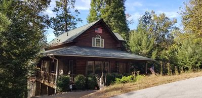 Photo for Like New Log Cabin with Views of the Smoky Mountains- Only 5 Min from everything