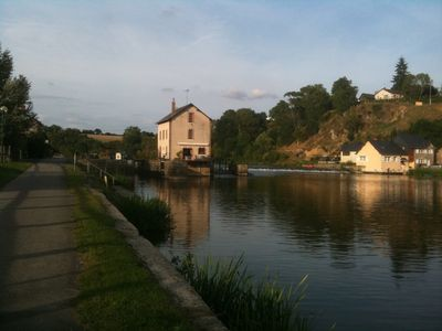 Photo for By the river of The Mayenne and the towpath