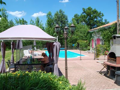 Photo for Secluded Luxury House. Private Pool. Between Cognac, Angouleme, Royan. Bordeaux.