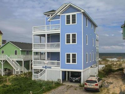 Photo for OBX  OCEANFRONT 5 BR Elevator & game room, HOT TUB  Million dollar views!