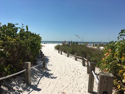 designated beach path just a 5 minute walk from the house across Estero blvd!