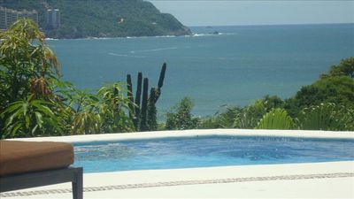 View from the private pool