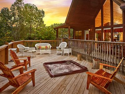 Photo for NEW REMODEL COMPLETED JAN! HEATED POOL 1MILE FROM DOLLYWOOD SLEEPS 11! HOT TUB!