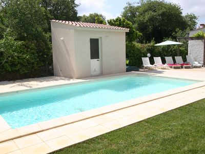 Photo for Large Family sleeps 8 Pool and Garden, BBQ, WIFI, AC & Heat, Near Bosa & Beaches