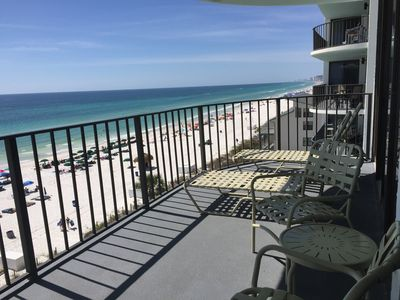 Photo for Rest Ashored!  Beachfront, 6th floor 3/3 gulf front spacious vacation condo.