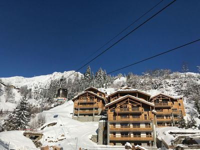 Photo for 63 m² apartment at the foot of the slopes with star-studded balconies