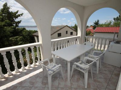 Photo for Studio flat with terrace and sea view Starigrad, Paklenica (AS-6431-a)