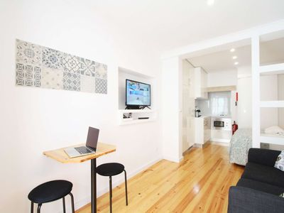 Photo for Martim Vaz Studio Apartment in the heart of Lisbon 2 minutes walk to Rossio.
