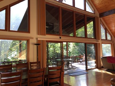 """Photo for """"Rivers Edge"""" Waterfront,  Mountain Cabin / Lodge, on Big Snowbird River"""