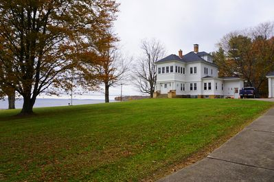 Relax on the lake in this beautiful Victorian home.