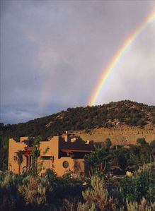 Rainbow over Blue Dolphin's Casita.