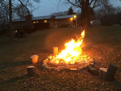 Enjoy a fire in the backyard and roast up some marshmallows.