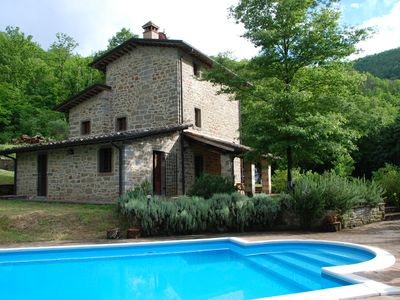 Photo for 3 Bedroom Farmhouse with Private Pool in secluded position with great views