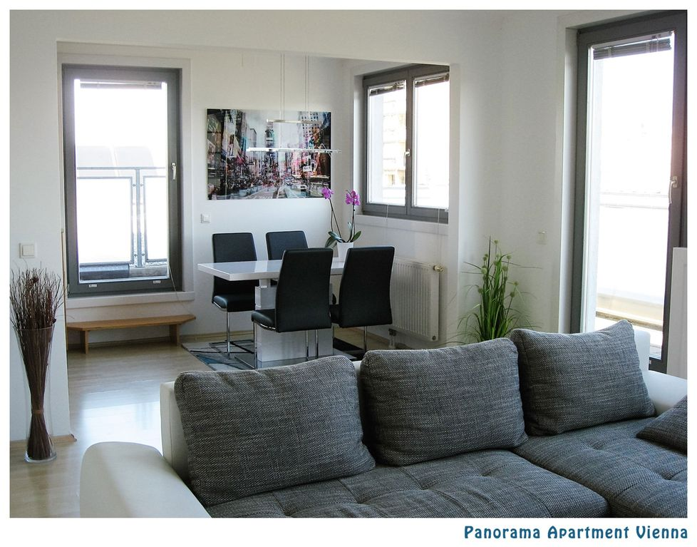 Quiet 60m2 penthouse apartment with 3 terraces and panoramic views ...