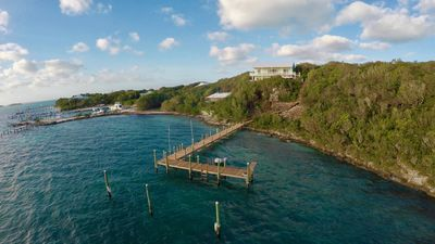 Photo for Exceptional Ocean View, Pool, Golf Cart, Dock. Lubbers Quarters Cay (Hope Town)