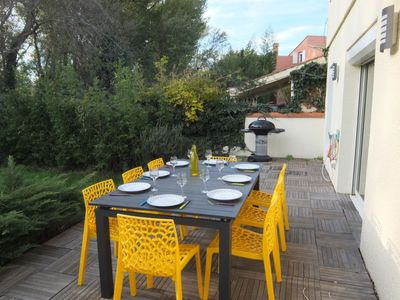 Photo for 4 bedroom Villa, sleeps 8 in Saint-Cyprien-Plage with Air Con and WiFi