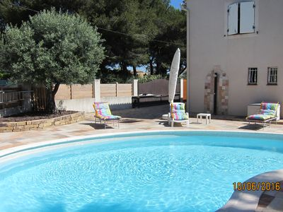 Photo for Six Fours les Plages Apartment F3 in villa, with terrace and pool