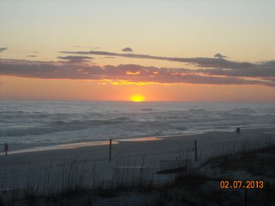 Another beautiful sunset on our private 2 1/2 acre beach. Come see for yourself!