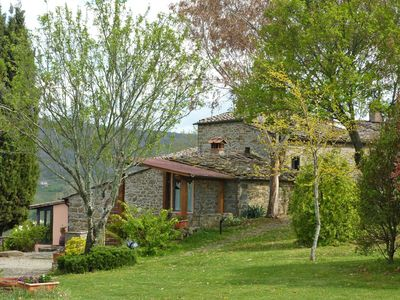 Photo for Wonderful private villa with A/C, private pool, hot tub, WIFI, TV, patio, close to Greve In Chianti