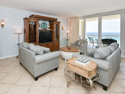 Photo for Large beachfront end condo w/extra private balcony space!