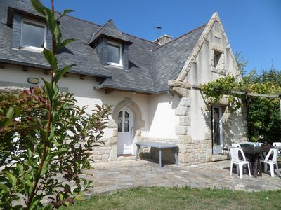 Photo for Great ideal large family Breton house 2 steps from the beach
