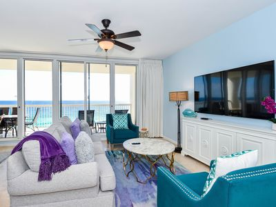 Photo for Updated Gulf Coast decor w/beachfront private balcony!