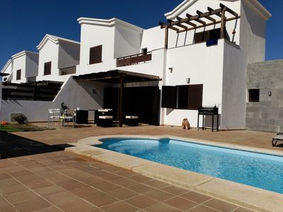 Photo for VILLA IN PLAYA BLANCA, PRIVATE and Heated POOL, A/C, 2 BED ROOMS