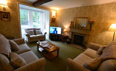 Sitting room with view over Knowleston Gardens