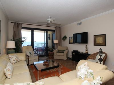 Photo for Romar House 1006B - Spacious Corner condo with Beach Front Terrace!