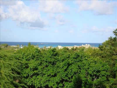 A Morning Ocean- View from the Top of Sugar Shack's Private 1/2-Acre Garden