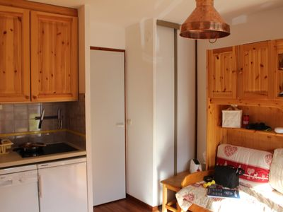 Photo for Les Ménuires: 2 room apartment for 4 people, ski in ski out