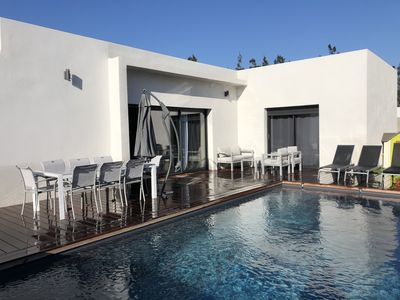 Photo for Beautiful villa with pool 1 km from Cala Rossa beach