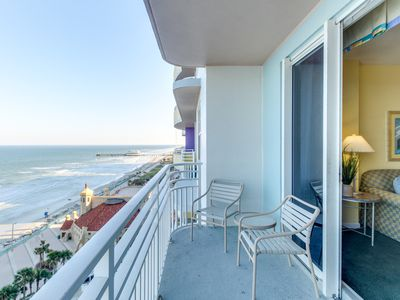 Photo for Oceanfront condo w/ views, pools, hot tub, & nearby beach - snowbirds welcome!
